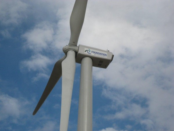 Nestle Water Wind Turbine Upclose